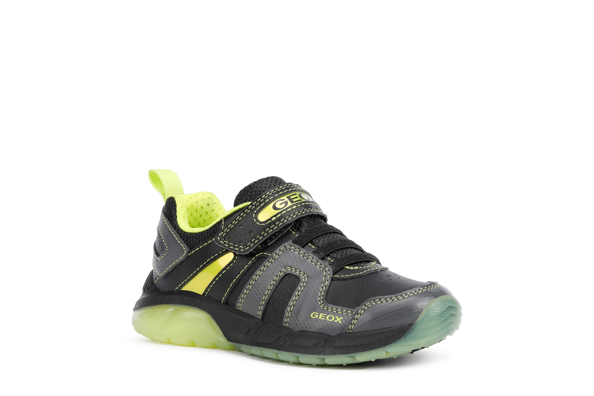 Geox Boys Trainer   Spaziale   Black Lime