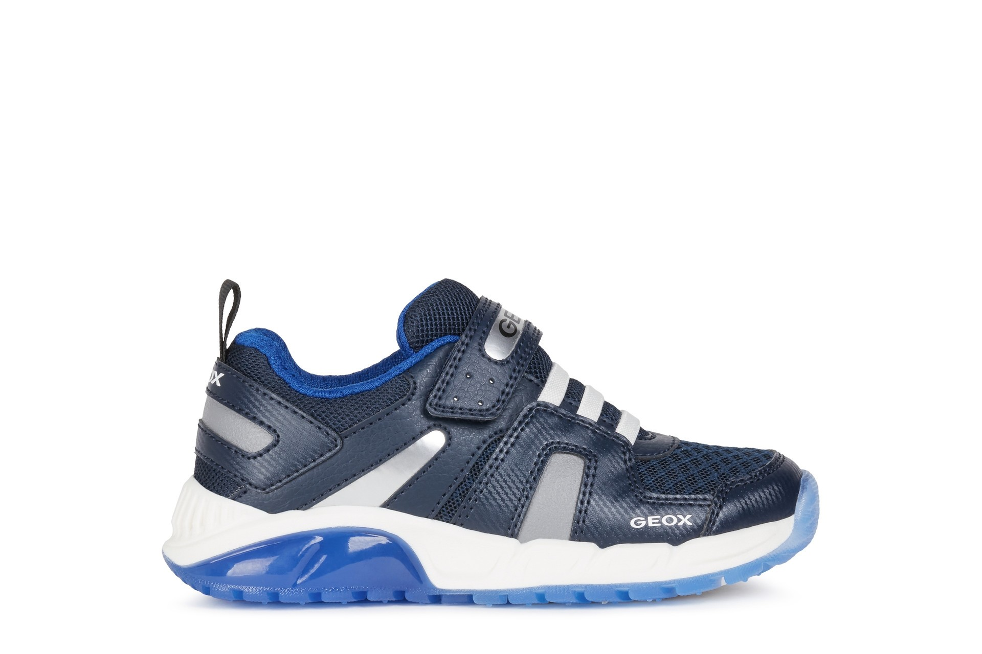 Geox Boys Light-Up Trainer   J SPAZIALE   Navy Royal
