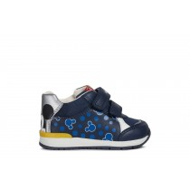 Geox RISHON Boys Navy / Silver baby trainers
