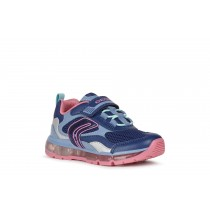 Geox Girls Light-Up Trainer   J ANDROID   Navy Fuchsia