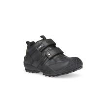 Geox Savage Boys Black School Shoe/Sneaker