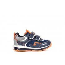 Geox Baby Boys B TODO Trainer | Navy Fluorescent-Orange