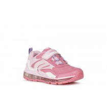 Geox Girls Light-Up Trainer   J ANDROID   Fuchsia Pink
