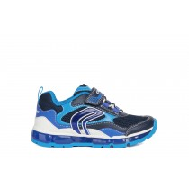 Geox Boys Light-Up Trainer | J ANDROID | Navy Lt_Blue