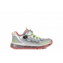 Geox Girls Trainer   ANDROID lights   Silver/Coral