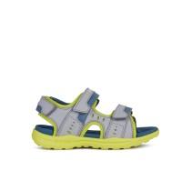 Geox Boys Sandal | Vaniett | Grey/Lime