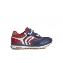 Geox Boys Trainer | PAVEL | Navy/Red