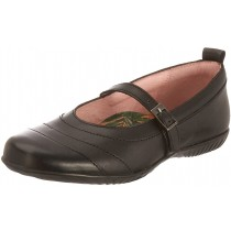 Petasil Ellie Black leather Girls School Shoes