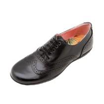 Girls School Shoe-Petasil-Everest (Black Leather)